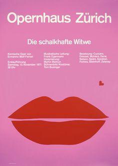 Josef Müller-Brockmann Opernhaus Zürich, Die schalkhafte Witwe, 1971