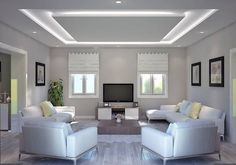 30 Unusual Ceiling Designs Ideas For Living Rooms. Awesome 30 Unusual Ceiling Designs Ideas For Living Rooms. If your ceilings are low, it can make a room look smaller and more closed in. Plaster Ceiling Design, Gypsum Ceiling Design, House Ceiling Design, Ceiling Design Living Room, Bedroom False Ceiling Design, Ceiling Light Design, Home Ceiling, Home Room Design, Home Interior Design
