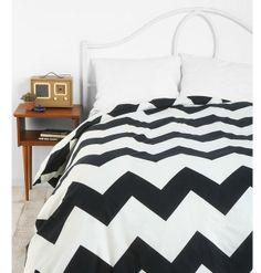 Black Chevron Bedding on Pinterest