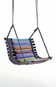 A colorful swing for the balcony or for the garden
