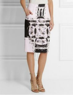 Erdem Frida Printed Silk-Crepe Skirt