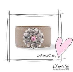 Flower Cuff with pink tourmaline. Charlotte Ehinger-Schwarz