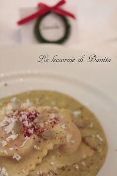 Le leccornie di Danita: Ravioli di zucca con crema di burrata al pistacchio