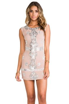 renzo + kai Laura Sequin Dress in Blush/Silver from REVOLVEclothing OMG YES YES YES!!!!!