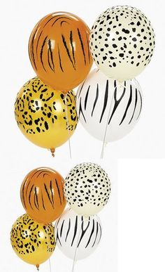 Jungle Animal Print Safari Balloons (50PC) - A WILD assortment of jungle animal print balloons. A great way to decorate any jungle, zoo or safari themed birthday party. You will get 50 assorted latex animal print balloons per order.They measure ... - Balloons - Toys - $15.90