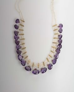 INDIAN VICTORIAN REVIVAL AMETHYST NECKLACE.