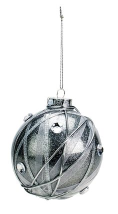 Nicole™ Crafts Silver Wrapped Ornament #ornaments #craft #christmas