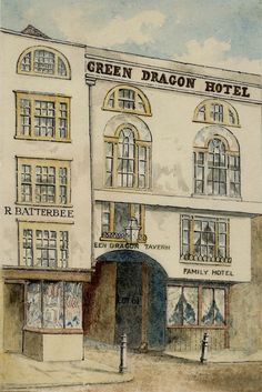 Green Dragon, Bishopsgate, coloured by S.Lowell
