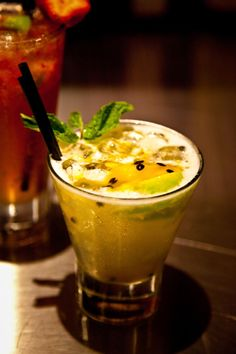 Fresh Passion Fruit Cocktail.   Finally.  Yum.