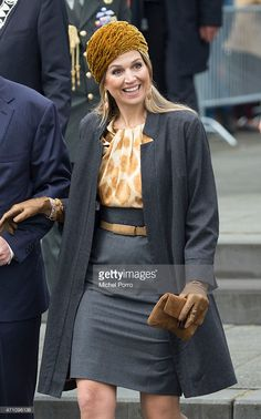 Queen Maxima of The Netherlands takes part in celebrations marking the 200th anniversary of the kingdom on April 25, 2015 in Zwolle, Netherlands. (Photo by Michel Porro/Getty Images)