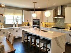 Large Kitchen Island That Will Leave You Speechless — Office PDX Kitchen Large Kitchen Island That Will Leave You Speechless Kitchen Island Dimensions, Kitchen Island On Wheels, Modern Kitchen Island, Kitchen Island With Seating, Kitchen Islands, Kitchen Interior, Kitchen Decor, Kitchen Design, Kitchen Ideas