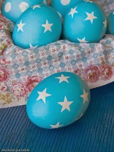 Huevos de Pascua decorados.D.I.Y