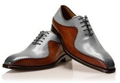Customize Gray Brown Leather Narrow Toe Casual Dress Shoes sold by Mr.Leather on Storenvy, the home of independent small businesses all over the world. Handmade Leather Shoes, Suede Leather Shoes, Grey Leather, Soft Leather, High Ankle Boots, Shoe Boots, Lace Up Shoes, Dress Shoes, Dress Lace