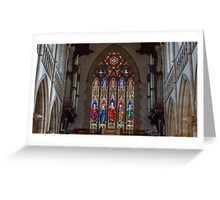 Stained Glass Windows - Sacred Heart Cathedral, Bendigo Greeting Card