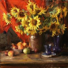 peaches & sunflowers 1.jpg (796×800)