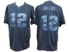 New England Patriots #12 Brady D.Blue Drenched Fashion NFL Nike Limited Jerseys