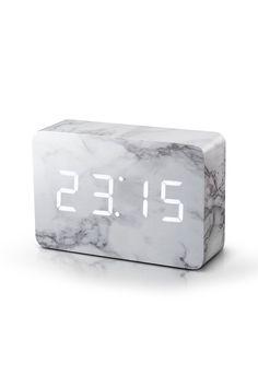 Brick Click Clock, Marble | BHS http://amzn.to/2qWZ2qa http://amzn.to/2saQTAm