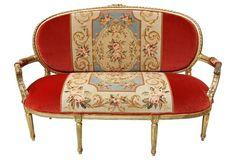$4,349 Louis XVI-Style Giltwood   Canapé