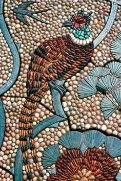 By Maggy Howarth. Mosaic Flower Pots, Mosaic Pots, Pebble Mosaic, Mosaic Wall Art, Mosaic Garden, Stone Mosaic, Tile Art, Mosaic Glass, Mosaic Tiles