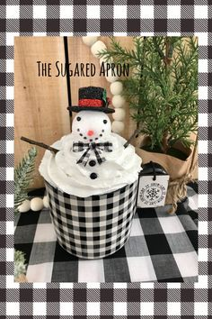 Christmas Room, Etsy Christmas, Christmas Crafts, Plaid Christmas, Xmas, Christmas Ornaments, Snowman Mugs, Snowmen, Cream Mugs