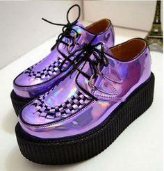 metallic purple creepers