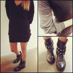 Yet another interpretation of #anarchic way of styling! Everybody's in love with Rock-Chic mood that's hyping now! Dress http://patriziape.pe/prefw13dressMW Boots http://patriziape.pe/Anarchic-capsule1  Follow link to discover details #instaglam #instarock #instarebel #dressyourstyle #instadaily #instafashion #igers #igdaily #follow