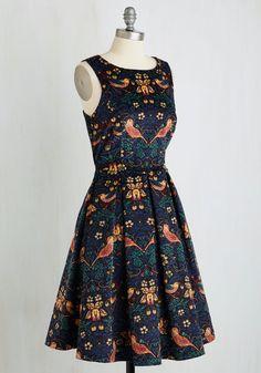 Eva Franco Partridge in a Flair Tree Dress | Mod Retro Vintage Dresses | ModCloth.com