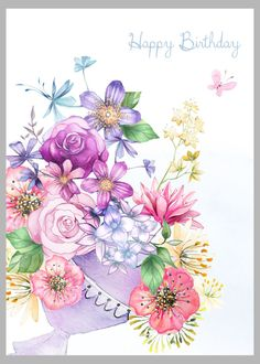 Birthday Quotes QUOTATION – Image : Sharing is Caring – Don't forget to share this quote ! Birthday Wishes Flowers, Birthday Wishes For Kids, Happy Birthday Art, Birthday Blessings, Birthday Wishes Cards, Happy Birthday Images, Birthday Pictures, Birthday Greeting Cards, Happy Birthday Greetings Friends