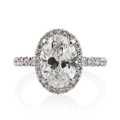4.15ct Oval Cut Diamond Engagement Anniversary by MarkBroumand