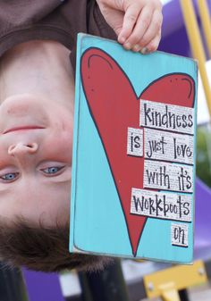 kindness is love with its workboots handmade thank you card. $13.95, via Etsy.