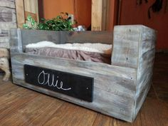 Custom rustic dog and cat beds...Pet furniture handmade from reclaimed barn wood and pallets. by WoodenNail on Etsy https://www.etsy.com/listing/226439784/custom-rustic-dog-and-cat-bedspet