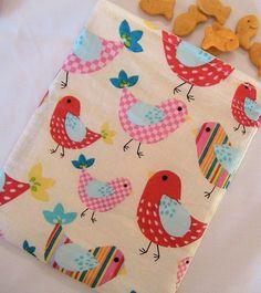 Bright Little Birdies Reusable Fabric Snack by Threadbarestitcher, $2.75