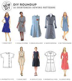 DIY Roundup: 10 Shirtdress Sewing Patterns | Sew DIY