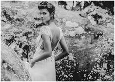 Boho Chic Wedding Dresses Collection By Laure de Sagazan - Weddingomania French Wedding Dress, Boho Chic Wedding Dress, Elegant Wedding Dress, White Wedding Dresses, Cheap Wedding Dress, Wedding Dress Styles, Designer Wedding Dresses, Laura Lee, Bridal Gowns