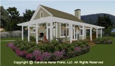 83 best House Plans with Porches images on Pinterest   3d house     House Plans with Porches  Carolina Home PLans number SG 980 AA