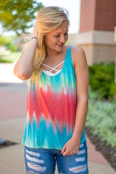 Piko tie dye tank top-more colors