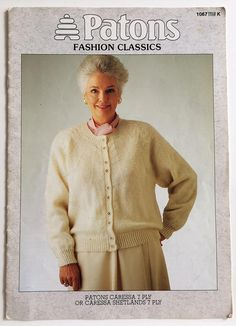 Patons knitting pattern book 1067  Ladies' 7 ply cable