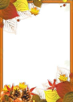 Transparent Fall PNG Frame with Leaves Fall Arts And Crafts, Autumn Crafts, Kirigami Templates, Boarder Designs, Fall Clip Art, Borders And Frames, Paper Frames, Autumn Activities, Writing Paper