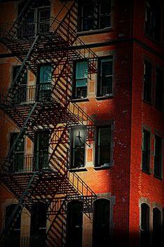 Fire Escape - Urban Street Composition, New York City | by floralgal, via Flickr