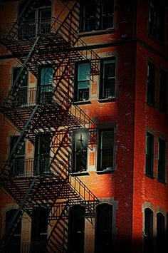Fire Escape - Urban Street Composition, New York City