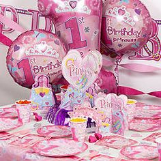 FIRST BIRTHDAY PRINCESS PARTY