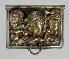 Gilt-silver ceremonial box lid  Period: Early Imperial, Augustan Date: late 1st century B.C.–early 1st century A.D. Culture: Roman Medium: Silver gilt Dimensions: H. 1 in. (2.5 cm) width 3 1/4 in. (8.3 cm) depth 2 5/8 in. (6.7 cm)