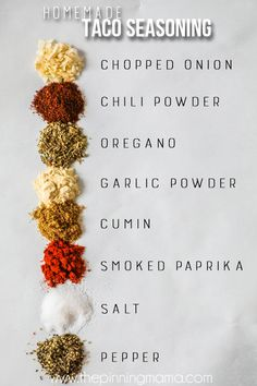 Spices in Taco Seasoning. Gewürze in Taco Seasoning. Related posts: Gewürze in Taco Seasoning. Gewürze in Taco Seasoning. Gewürze in Taco Seasoning. Trust me when I say this is the BEST homemade Taco seasoning recipe! Easy Taco Seasoning Recipe, Chicken Taco Seasoning, Taco Seasoning Packet, Seasoning Mixes, Homemade Spices, Homemade Seasonings, Rachel Ray, Winter Drink, Stone