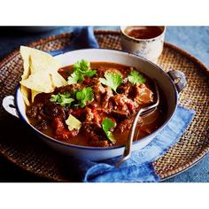 Lamb birria recipe - By Australian Women& Weekly, This spicy and flavoursome lamb birria will excite your taste buds! Full of authentic spicy Mexican flavours, this lamb stew will have you coming back for more! Lamb Recipes, Mexican Food Recipes, Cooking Recipes, Meat Recipes, Vegetarian Lasagne, Mexican Stew, Beef Rump, Canning Crushed Tomatoes, Lasagne Recipes