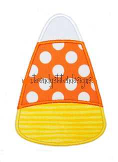Candy Corn applique design machine by trendystitchdesigns on Etsy, $3.99