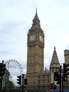 London, United Kingdom - Big Ben and the London Eye