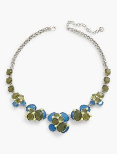 Faceted Stone Cluster Necklace | Talbots
