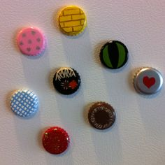 Wizard of Oz themed bottle cap magnets!