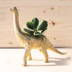 Gold Dinosaur Planter.  Shelterblack.