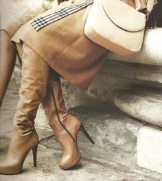 high heels, boots, classic, fashion #brown #fashion #style